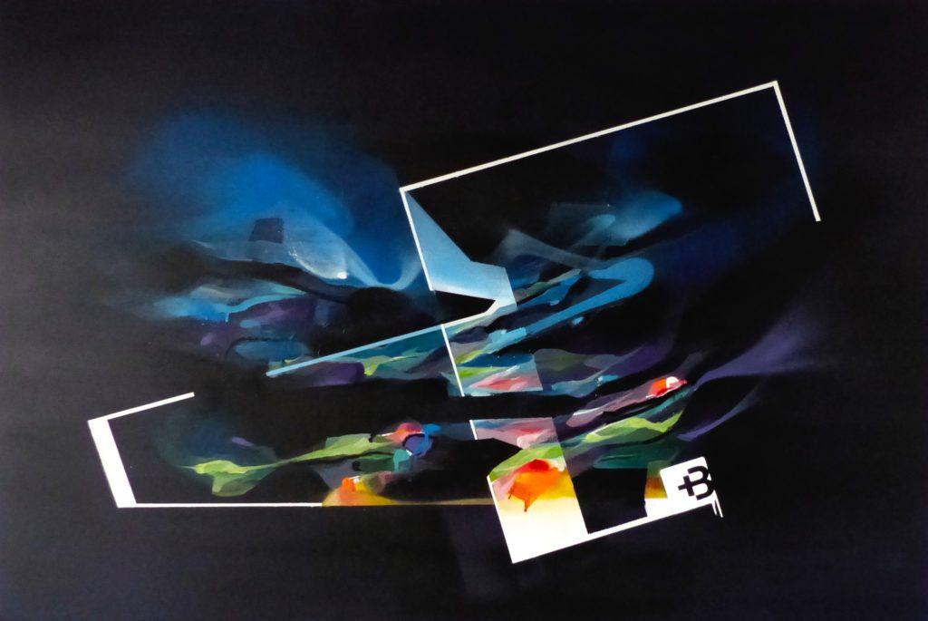 Commande toile peinture abstraite