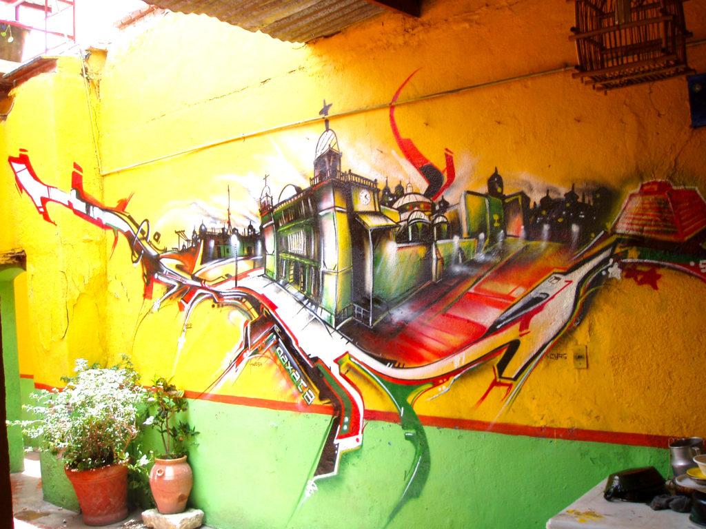 Graffiti à Oaxaca Mexico