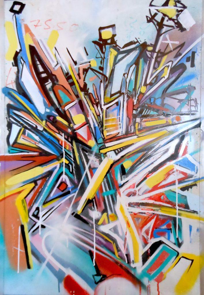 Tableau-7550-Bandi-Abstract-Graffiti