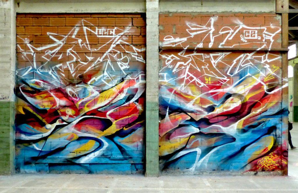 Graffiti à Toulouse Azek Bandi Graffiti abstrait et wildstyle