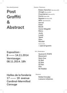 Post Graffiti & Abstract Exhibition flyer