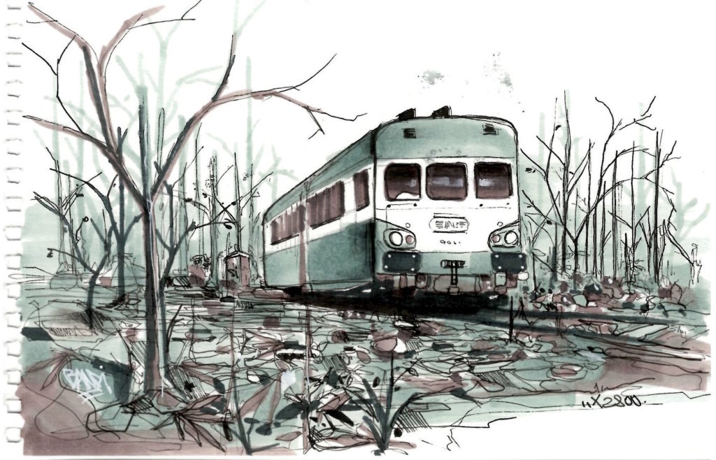 x2800 autorail drawing