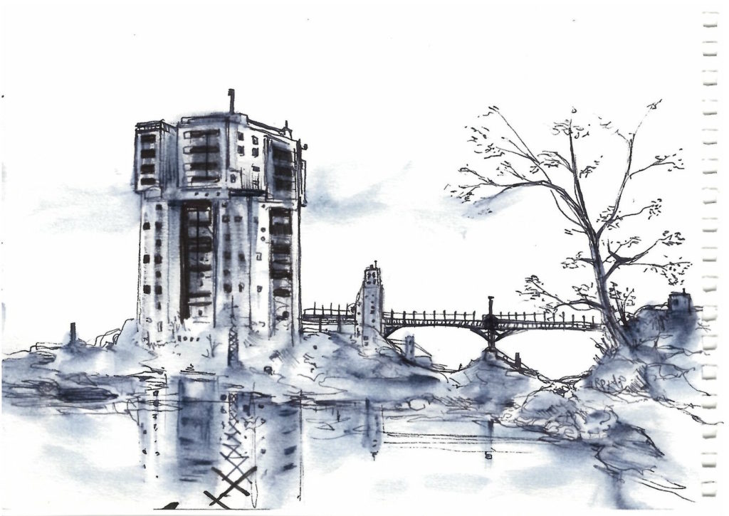 Dessin d 39 architecture grand ensemble nadib bandi dessin for Dessins d architecture bricolage