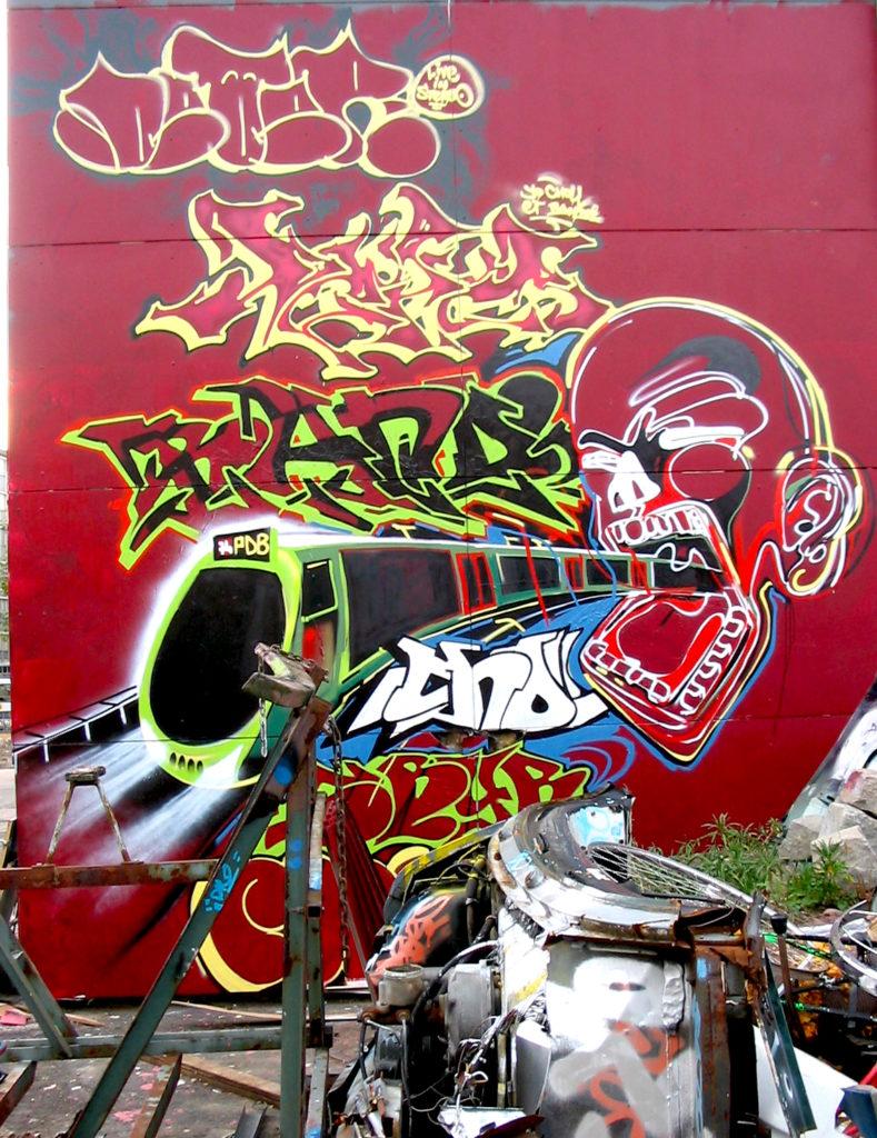Graffiti à Artamis Genève 2004