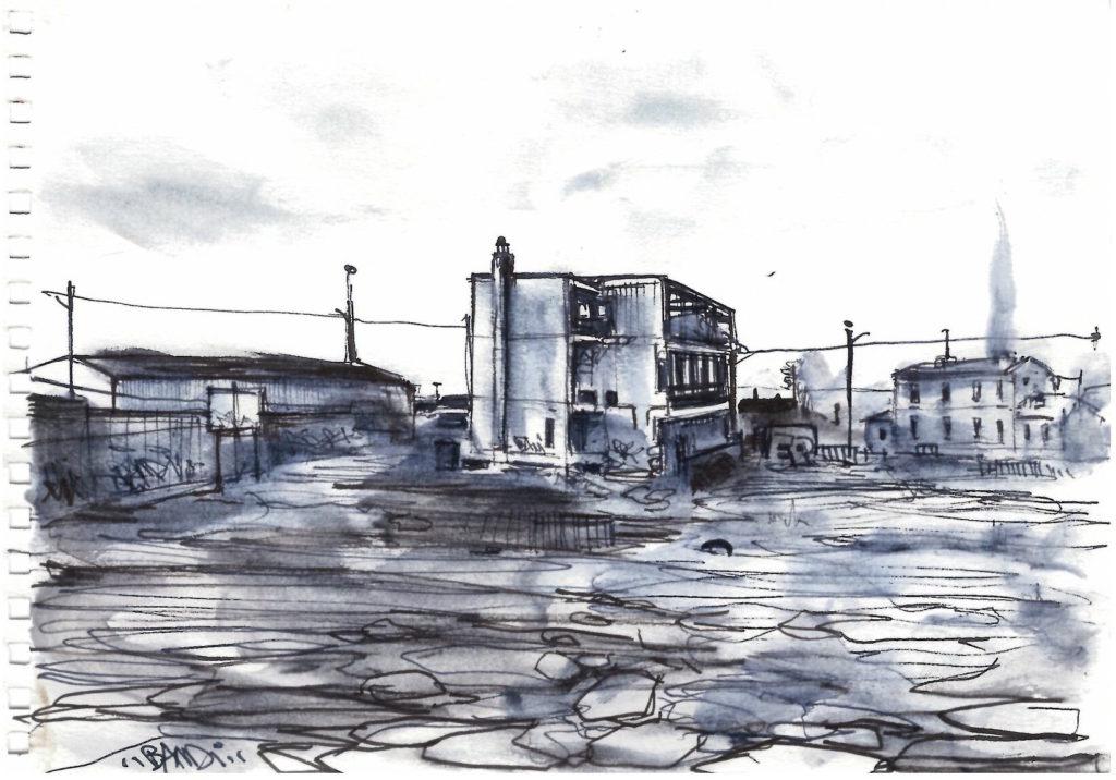 Illustration de terrain vague