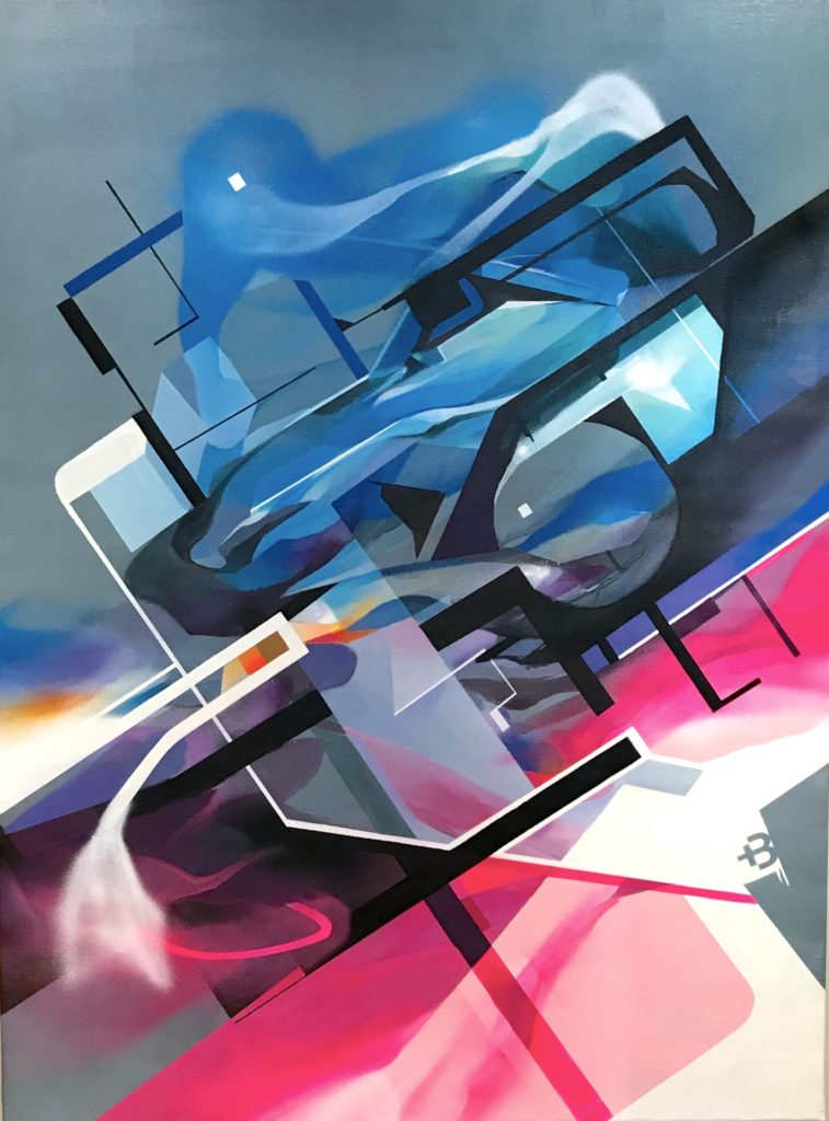 peinture abstraite post graffiti deconstructiviste - Nadib Bandi