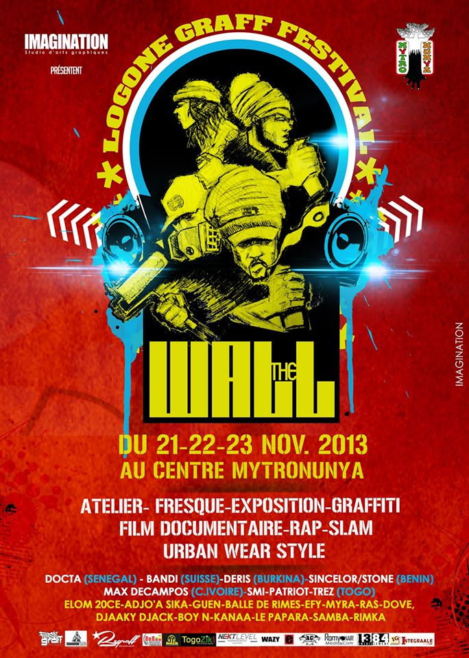 Affiche The Wall graffiti festival lomé togo 2013
