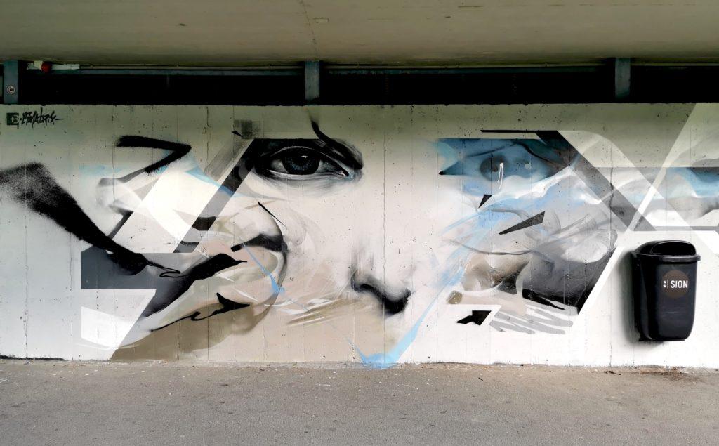 L7M Nadib Bandi graffiti à Sion