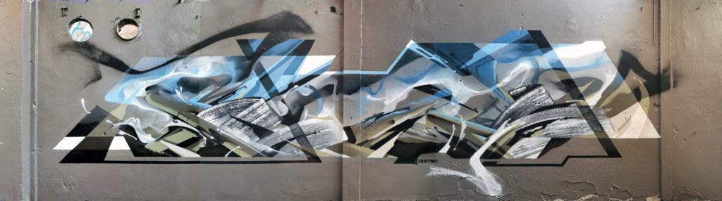 Graffiti à Lyon Bandi et Ynot