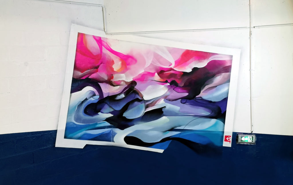 Paysage graffiti abstrait