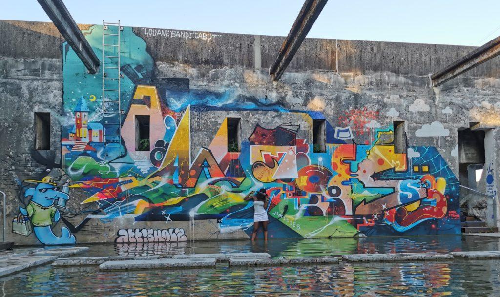 Graffiti à Attisholz Bandi, Louane, Cabut183