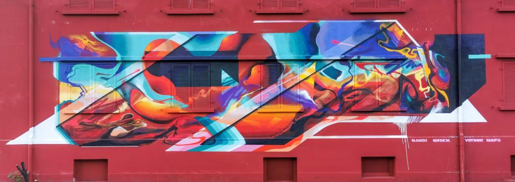 Jam graffiti à Genève Bandi Votour Maps Groek
