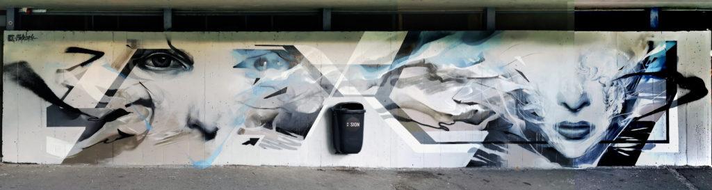 L7M et Nadib Bandi Graffiti à Sion
